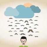 Rain mustache Royalty Free Stock Photo