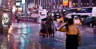 Rain in New York Stock Image