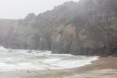 Rain and Northern California Beach Royalty Free Stock Photo