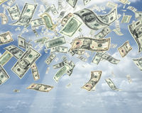 Rain Of Dollars Stock Photos