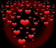 Rain Of Hearts Royalty Free Stock Photography