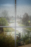 Rain outside the window Royalty Free Stock Photography