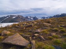 Rain Over Alpine Tundra Stock Image