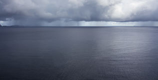 Rain over the Atlantic ocean Royalty Free Stock Photos