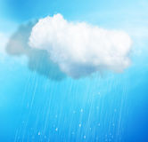Rain over blue stock photo