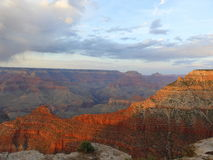 Rain over the Grand Canyon. Evening view from the South Rim of the Grand Canyon Stock Photo