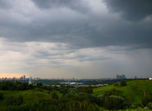 Rain over Moscow Royalty Free Stock Photos