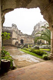 Rain over ruins stock image