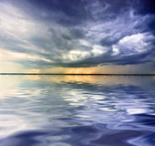 Rain over sea Royalty Free Stock Photography