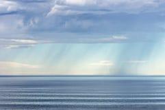 Rain over the sea Stock Image