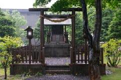 Rain over the shrine Stock Image
