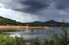 Rain over Wyangala Waters Australia Royalty Free Stock Photos