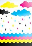 Rain of paint Stock Photo