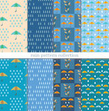 Rain pattern collection Stock Photography