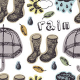 Rain pattern Stock Image