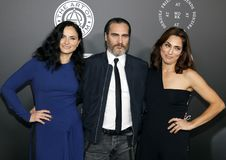 Rain Phoenix, Joaquin Phoenix and Summer Phoenix Royalty Free Stock Photo