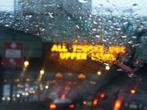 Rain. Photo. Raindrops on car window. This image created in entirety by me from my own images and is entirely legal for me to sell and distribute stock images