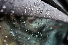 After the rain. Photograph of drops left on the car window after the rain Royalty Free Stock Photos