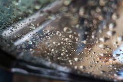 After the rain. Photograph of drops left on the car window after the rain Royalty Free Stock Photography