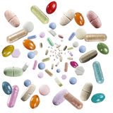 Rain of pills Stock Photography