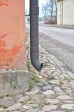 Rain pipe closeup Stock Images