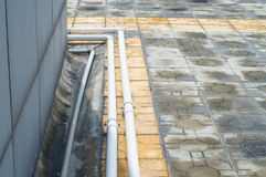 Rain pipe royalty free stock photography