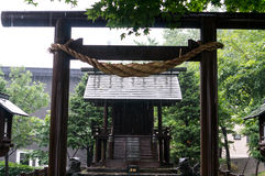 Rain pouring over shrine Stock Photography