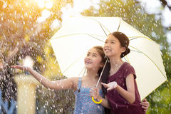 In the rain Royalty Free Stock Photography