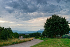 Rain in the provence Stock Photography