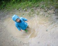 Rain puddles Stock Photography