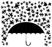 Rain puzzle Stock Images