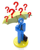 Rain of questions royalty free stock images