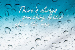 Free Rain Quotes On Abstract Blurred Rain Drop Stock Photography - 91706112