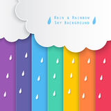 Rain and rainbow sky background Royalty Free Stock Images
