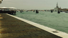 After the rain. Riva degli Schiavoni is a water front in Venice, Italy. stock video
