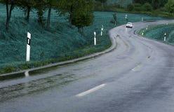 rain road Στοκ Εικόνες