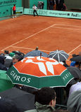 Rain at Roland Garros 2010 Stock Images