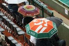 Rain at Roland Garros 2010 Stock Photo
