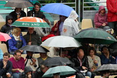 Rain at Roland Garros 2010 Royalty Free Stock Images
