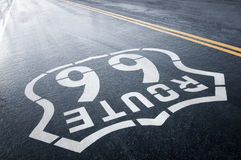 Rain and Route 66 Royalty Free Stock Photo