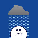 Rain On Sad Face Stock Image