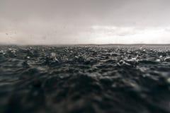 Rain on Sea Royalty Free Stock Photos