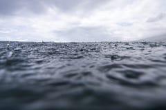 Rain on Sea Royalty Free Stock Images