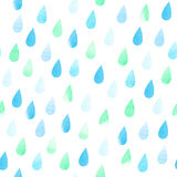 Rain seamless aquarelle pattern Stock Photo