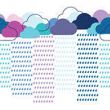 Rain seamless pattern Royalty Free Stock Photography