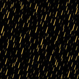 Rain seamless pattern gold 1 Royalty Free Stock Photo