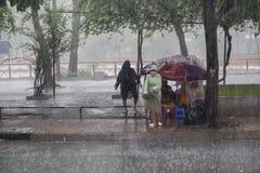 Rain season in Southeast Asia Royalty Free Stock Photography