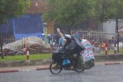 Rain season in Southeast Asia Royalty Free Stock Photos