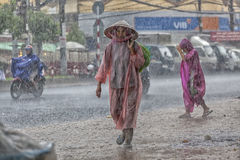 Rain season in Southeast Asia Royalty Free Stock Images