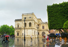 The rain in Seville Stock Image